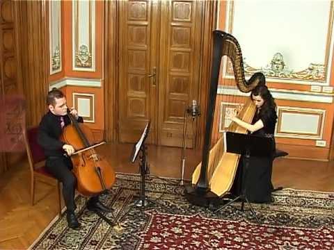 Duo Cell'Arpa (cello And Harp) J. S. Bach - Siciliana - Trinitas TV 2012