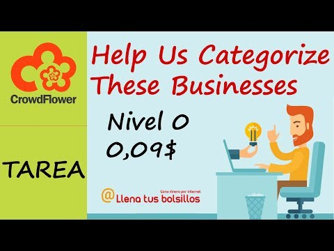 Guia Tarea Nivel 0 Crowdflower 0,09$ | Help Us Categorize These Businesses [Como hacerla y consejos]