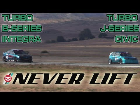 Turbocharged J-Series Civic vs Turbo B-Series Integra