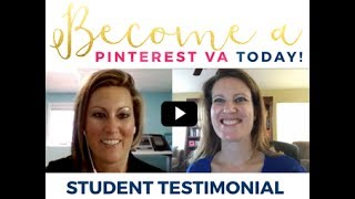Become a Pinterest VA TODAY! Student Success Story
