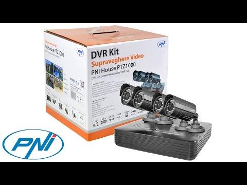 DVR kit supraveghere video PNI House PTZ1000 - DVR si 4 camere exterior 1000 linii