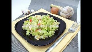 Салат из пекинской капусты с крабовыми палочками - быстро, вкусно, просто