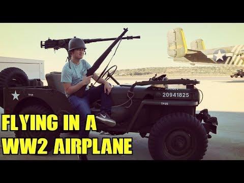 Flying in a World War 2 Airplane vlog P-51 Mustang Japanese Zero World War 2 III