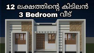 12 ലക്ഷത്തിൻ്റെ കിടിലൻ 3 Bedroom വീട് | Kerala House Design | Low Cost Kerala Style House |