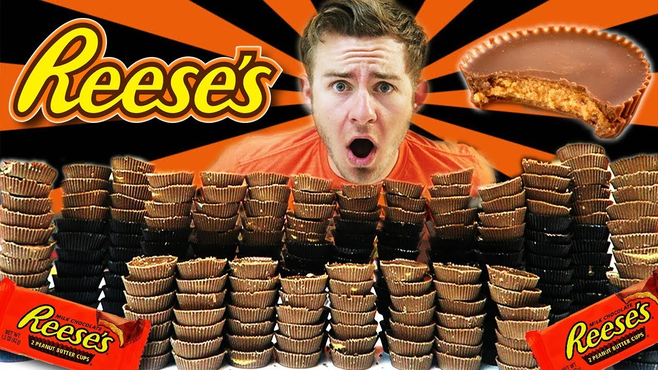 Download 250 REESE'S PEANUT BUTTER CUP CHALLENGE! (20,000+ CALORIES)