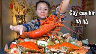 Ngon đáo để chảo hải sản tôm hùm ghẹ đủ loại lội tương miso cay # 814