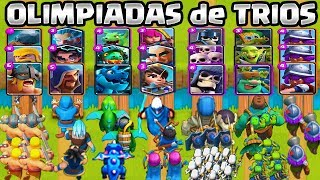 WHICH IS THE BEST TRIO? | Brothers Olympics | CHALLENGE CLASH ROYALE | 1vs1 |  Clash Royale Olympics