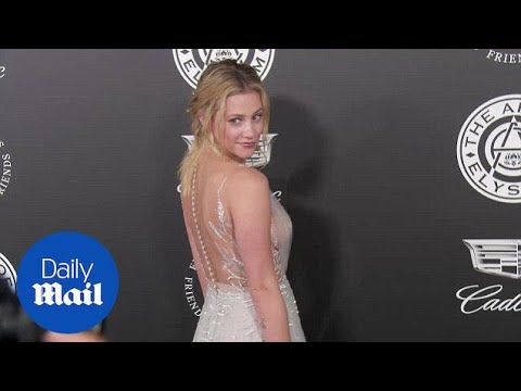 Lili Reinhart shimmers in silver at Art Of Elysium Heaven Gala - Daily Mail