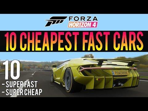 Forza Horizon 4 - 10 Super Cheap Fast Cars! - INSANE Accelerations! thumbnail