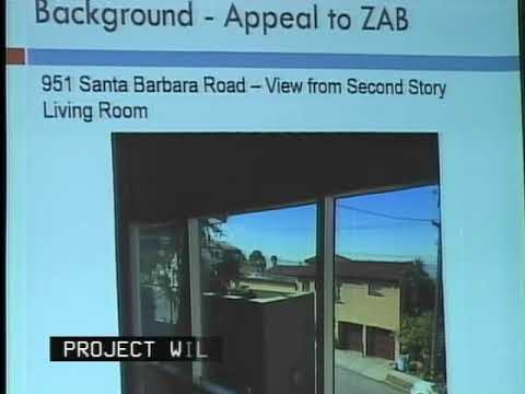 Zoning appeal - 970 Santa Barbara (October 2017 Berkeley City Council)