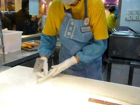 Youtiao frying