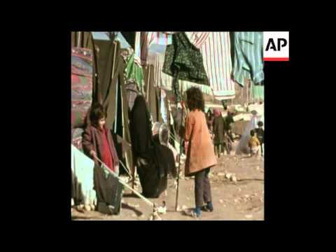 SYND 17-4-72 REFUGEE CAMP NEAR THE IRAN / IRAQ BORDER