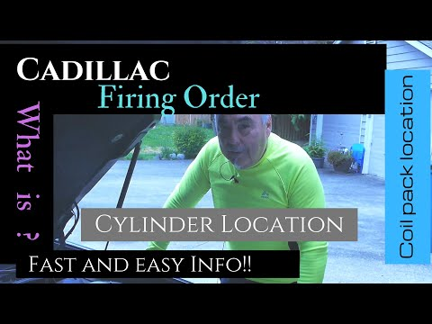 Cadillac | Cylinder And Firing Order And Coil Pack Location | Deville | 4.6 Northstar | GM