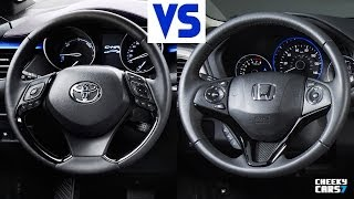 new 2017 toyota chr vs honda hrv 2016 interior and exterior youtube. Black Bedroom Furniture Sets. Home Design Ideas