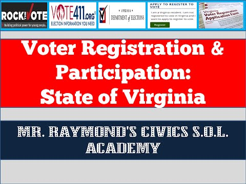 Voter Registration and Participation  - Civics SOL