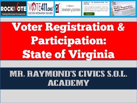 Voter Registration And Participation  - Civics SOL
