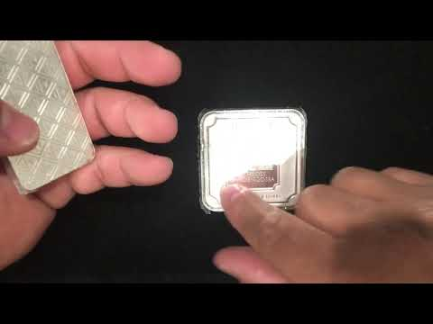 Geiger 10 ounce and 250 Gram Silver Bars