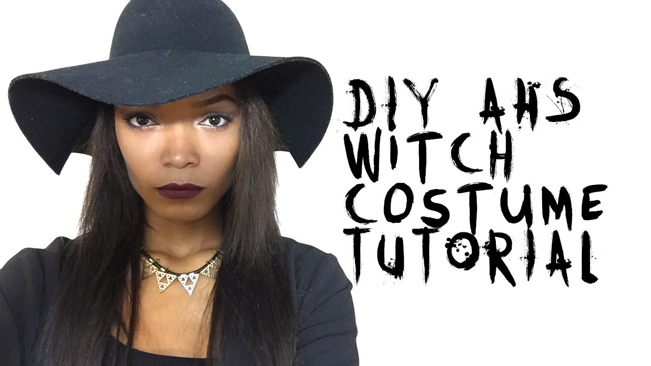easy diy american horror story coven witch halloween costume tutorial heartlicia youtube