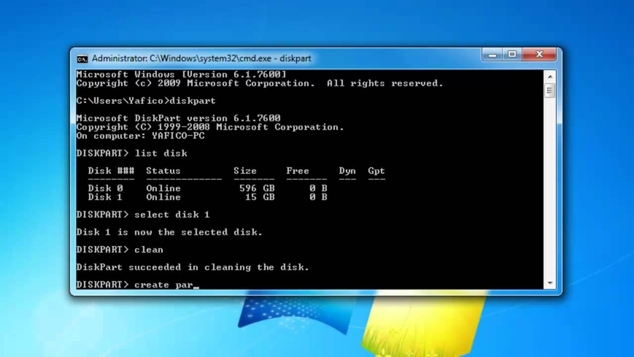 windows 7 installeren vanaf usb