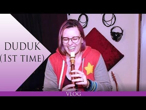 Duduk Unboxing & First Time Playing | Mary Hamer | Vlog 007