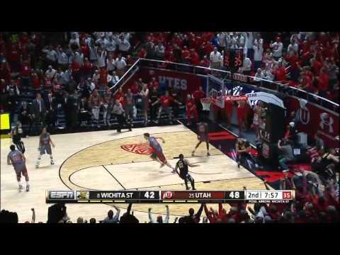 Utah Utes Defeat Wichita State Game Highlights 12-03-14