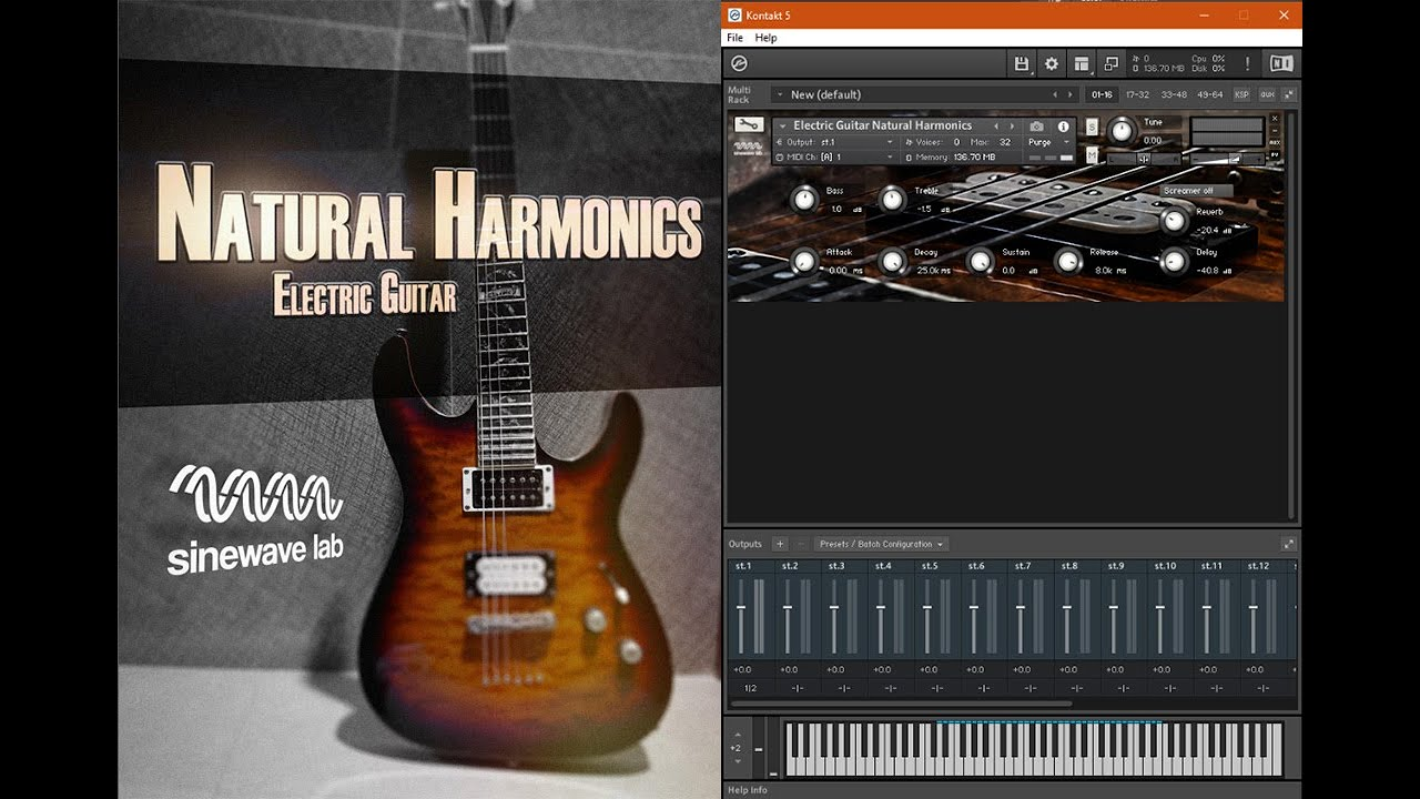 electric guitar harmonics kontakt library by sinewave lab youtube. Black Bedroom Furniture Sets. Home Design Ideas