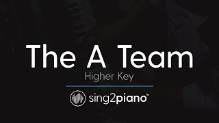 The A Team (Higher Key - Piano Karaoke Instrumental) Ed Sheeran