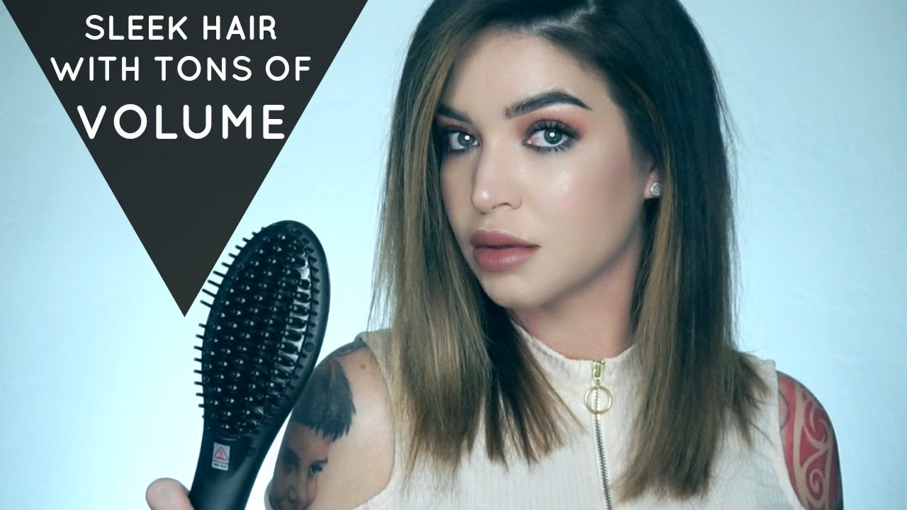 HOW TO STRAIGHT HAIR WITH MEGA VOLUME