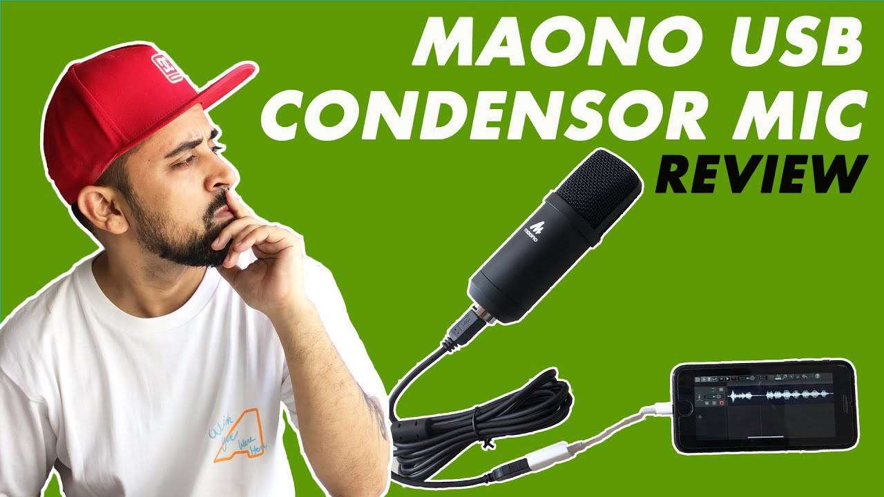 Maono Microphone For Mobile & PC | USB Condensor Unboxing & Review | Audio Test | Best Microphone