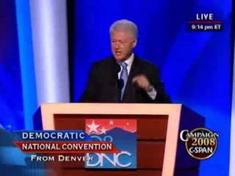 Pres. Bill Clinton Address at Democratic National Convention