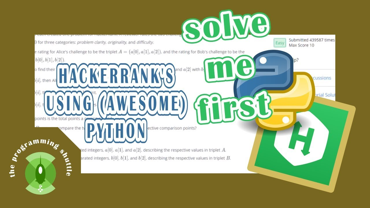 hackerrank's Solve Me First explanations using python
