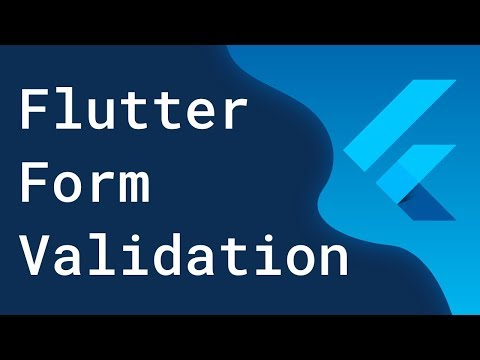 Basic Form Validation with Flutter