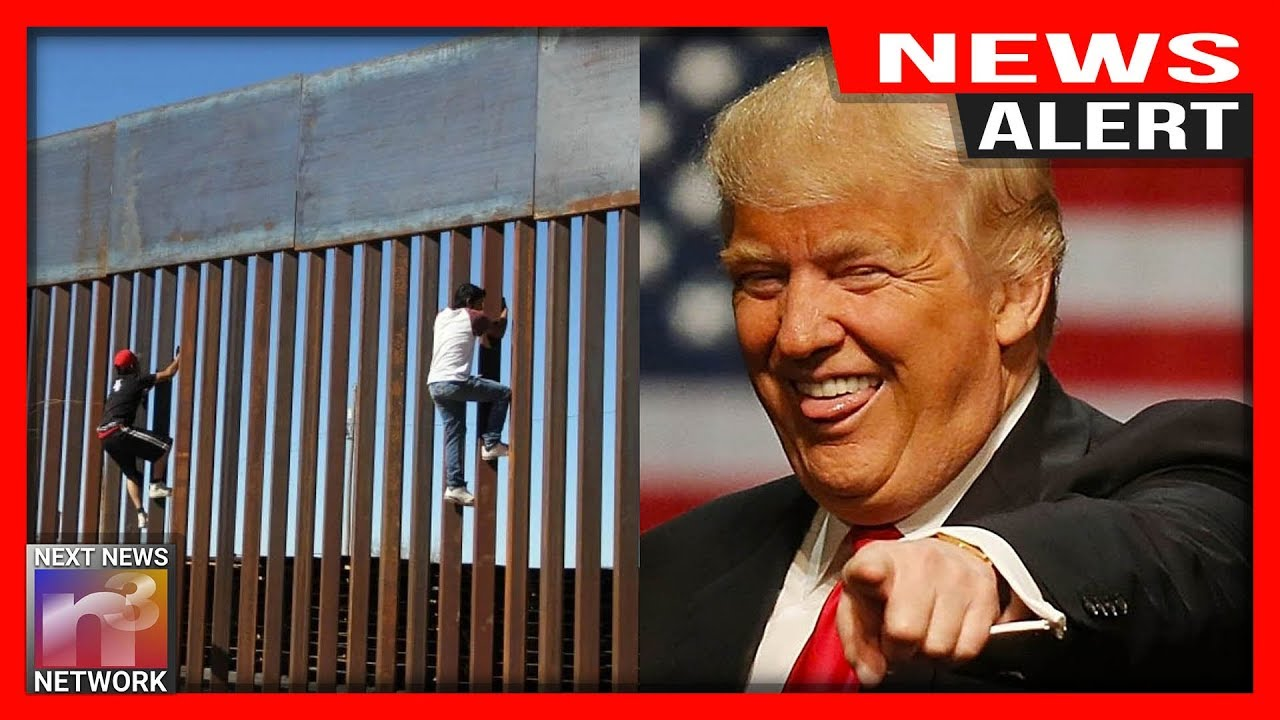 ALERT: BUSTED!!! After Trying To Scale Trump's New Wall These Illegals Faced Their WORST NIGHTM