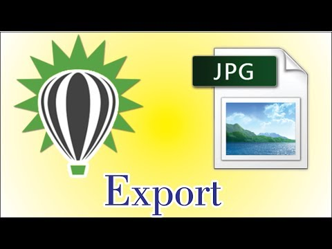 How to Export in CorelDraw file to jpg format