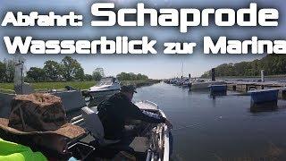 Abfahrt: Marina Schaprode, Blick vom Wasser | Kimple Laker 400 SD - Suzuki DF20A