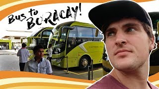 Departing Iloilo City - All Aboard the Bus to Boracay Island, Philippines!