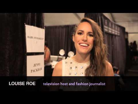 Louise Roe goes Backstage: Jenny Packham Fashion Week Show 2013 (00:15) | TRESemmé Style Setters