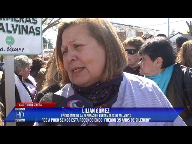 Lilian Gómez Presidente de la Agrup  Enfermeras de Malvinas
