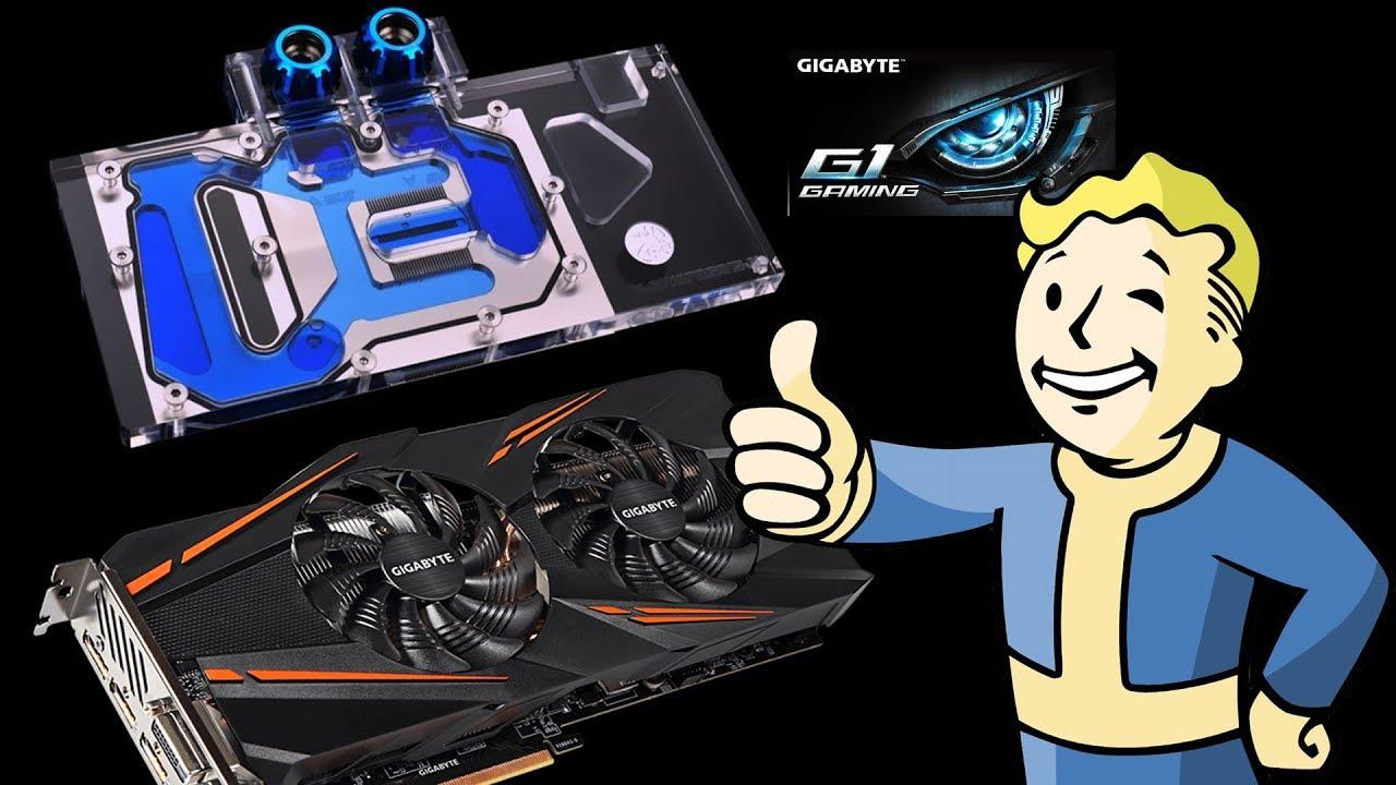 How to Install Bykski RGB GPU Water Cooling Block For Gigabyte GTX  1070/1060 G1 Gaming Video Card