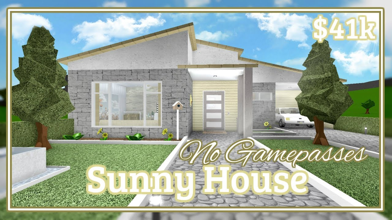 Bloxburg Sunny House Speed Build No Gamepasses Youtube