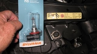 bmw angel eyes h8 bulb replace video by froggy passenger side