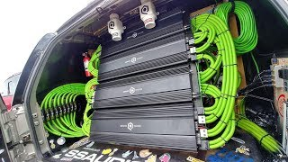 36,000 WATT 4 18s SUBWOOFERS SSA EVIL TEAM/ LOUDEST BASSHEAD COMPETITION