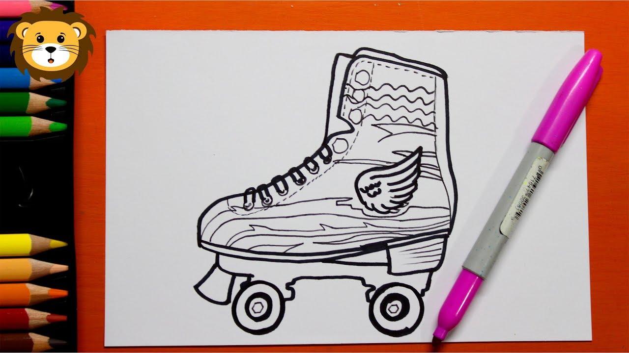 Como Dibujar Los Patines De Luna Dibujos Para Niños How To Draw Moon Skates
