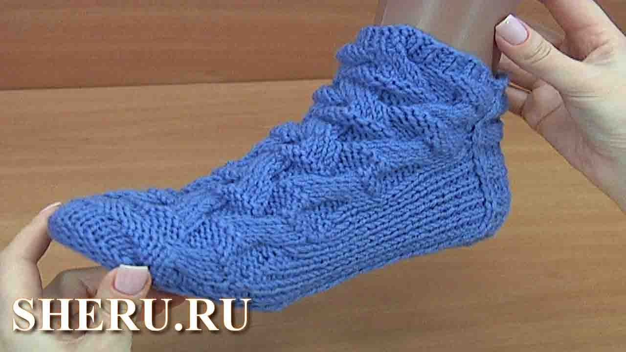 стильные и теплые носки без шва урок 155 Youtube