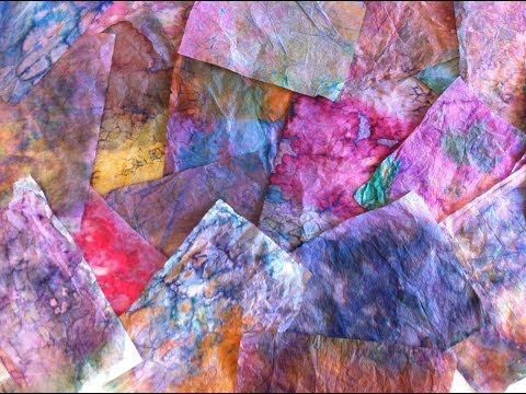 Dyed/Marbled Tissue Papers