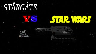 STAR WARS vs STARGATE Ships | Space Engineers - Battle!