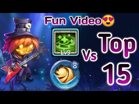 Pumpkin Duke Vs Top-15 Beast | 30 BT | 9/9 Regenerate | 8 Sacred Light | Castle Clash