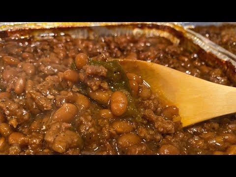 baked beans and hamburger casserole