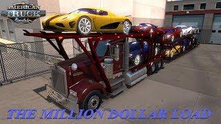 American Truck Simulator Kenworth W900 Car Hauler Million $ Load