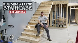 Building a Large Staircase and How to Layout a Stair Stringer
